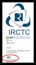IRCTC.com is on Facebook
